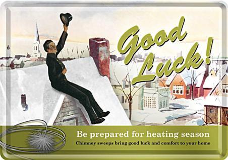 Blechpostkarte Good Luck