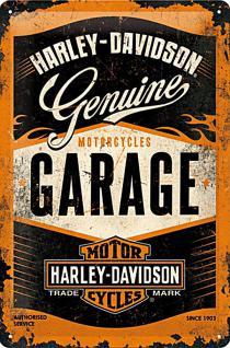 Harley-Davidson - Garage Blechschild - Vorschau