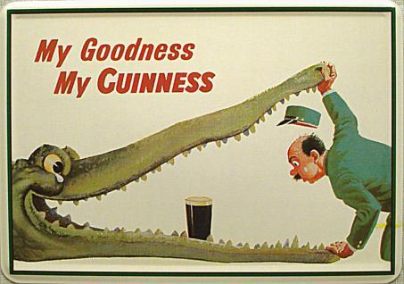 Blechpostkarte Guinness Krokodil - Vorschau