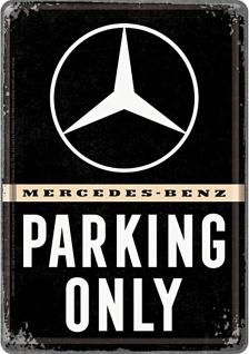 Blechpostkarte Mercedes-Benz - Parking Only - Vorschau