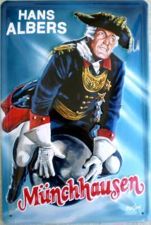 Hans Albers Münchhausen Blechschild - Vorschau