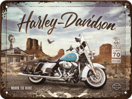 Harley-Davidson - Route Road King Classic Blechschild