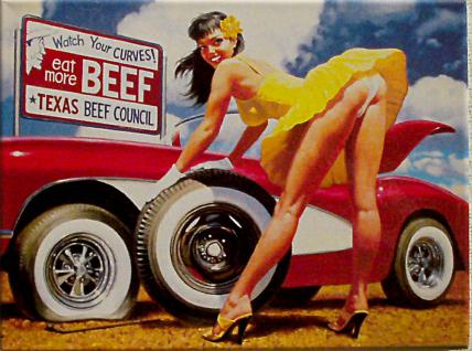 Magnet Pin Up - eat more beef