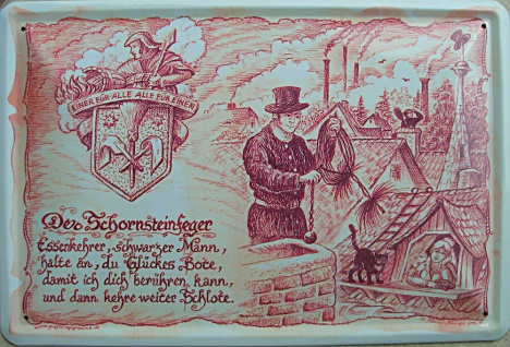 Beruf - Schornsteinfeger Blechschild - Vorschau