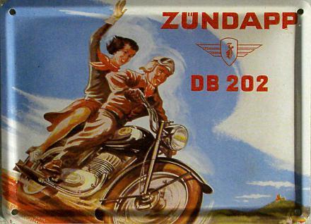Zündapp - DB202 Mini Blechschild