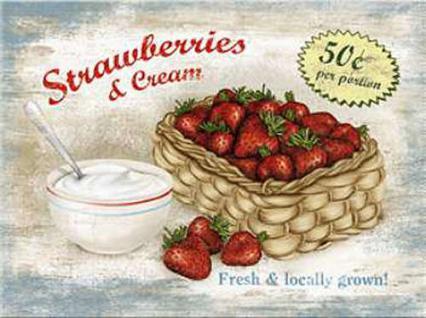 Magnet Strawberries & Cream