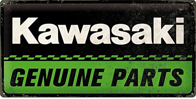 Kawasaki - Genuine Parts Blechschild
