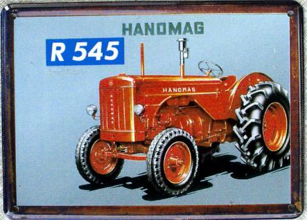 Hanomag R 545 Mini Blechschild