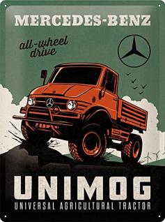 Mercedes-Benz -Unimog Blechschild