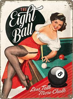 The Eight Ball Blechschild, 30 x 40 cm - Vorschau