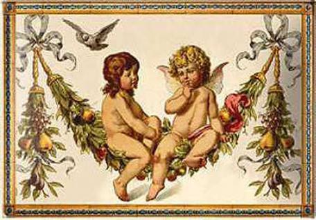 Blechpostkarte Pfunds - Engel