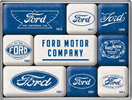 Magnet-Set - Ford Logo Evolution