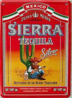 Sierra Tequila Mini Blechschild - Vorschau