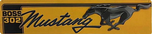 Ford - Mustang, gelb Blechschild
