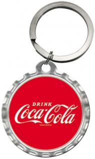 Schlüsselanhänger - Coca-Cola Logo Red Crown Cap