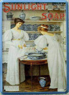 Sunlight Soap Frauen Mini Blechschild - Vorschau