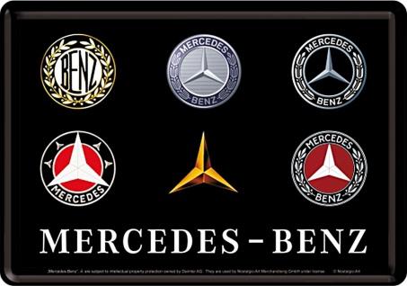 Blechpostkarte Mercedes-Benz - Logo Evolution