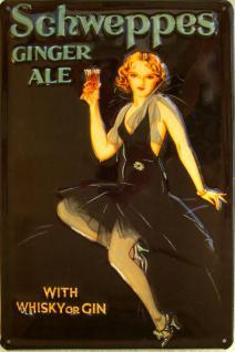 Schweppes Ginger Ale Blechschild - Vorschau