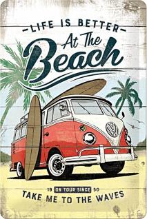 VW - Bulli Beach Blechschild