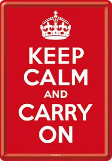 Blechpostkarte Keep Calm and Carry On