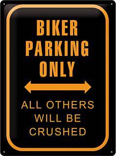 Biker Parking Only Blechschild