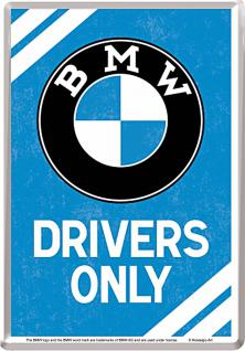Blechpostkarte BMW - Drivers Only