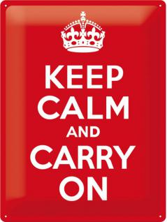 Keep Calm and Carry On Blechschild - Vorschau