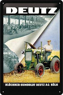 Deutz Traktor Blechschild