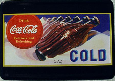 Blechpostkarte Coca Cola Cold