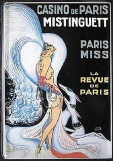 Blechpostkarte Casino de Paris