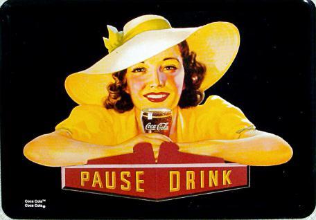 Coca Cola Pause Drink Blechschild