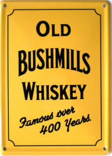 Old Bushmills Whiskey - gelb Mini Blechschild