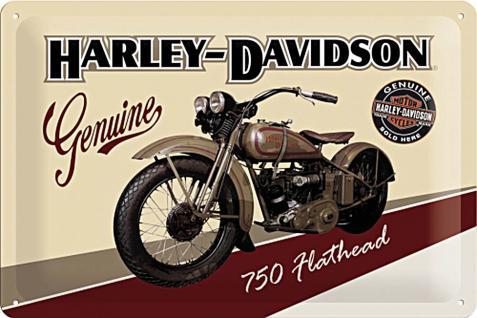 Harley-Davidson Flathead Blechschild - Vorschau