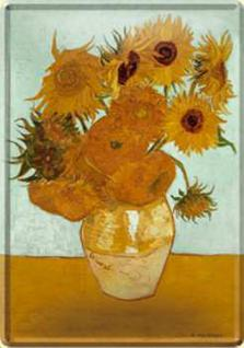 Blechpostkarte Sonnenblumen