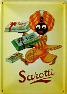 Blechpostkarte Sarotti - Mohr