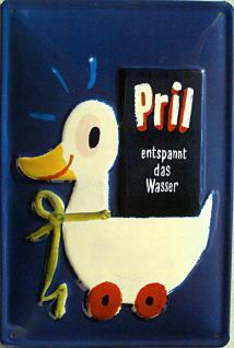 Pril Ente Blechschild - Vorschau