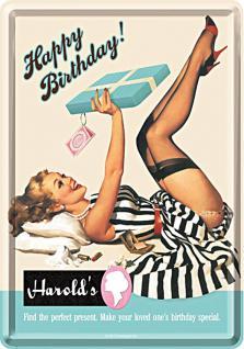 Blechpostkarte Happy Birthday No.2