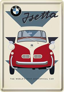 Blechpostkarte BMW - Isetta Economical Car
