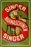Singer Nähmaschinen Blechschild