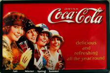Coca Cola Vier Jahreszeiten Blechschild