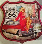 Route 66 - Pin Up Blechschild