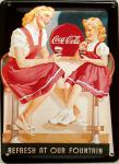 Coca Cola Refresh At Our Fountain Mini Blechschild