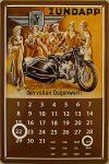 Zündapp - für Ihr Geld... Kalender Blechschild