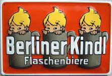 Berliner Kindl Flaschenbiere Blechschild
