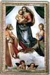 Sixtinische Madonna - Raffael um 1513 Blechschild