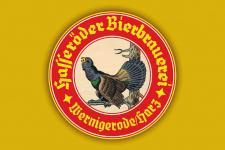 Hasseröder Bier, gelb Blechschild