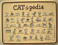 Fun-Schild Cat-i-pedia