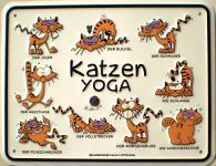 Fun-Schild Katzen Yoga