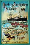 Hamburg-Amerikanische Packetfahrt Blechschild