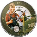 John Deere Wanduhr (Echtglas)